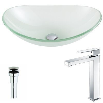 Forza Circular Vessel Bathroom Sink Faucet Finish: Chrome