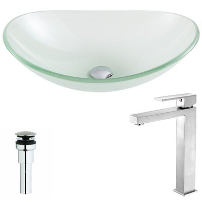 Forza Circular Vessel Bathroom Sink Faucet Finish: Brushed Nickel