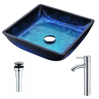 Viace Square Vessel Bathroom Sink Faucet Finish: Chrome