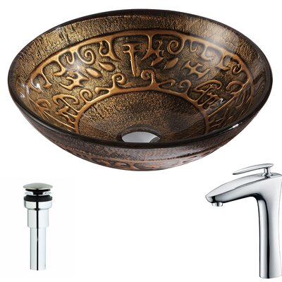 Alto Circular Vessel bathroom Sink
