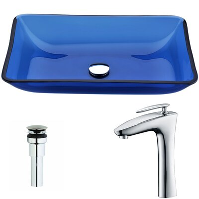Harmony Rectangular Vessel Bathroom Sink