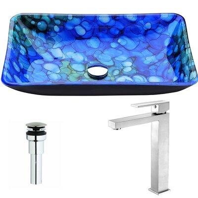 Voce Rectangular Vessel Bathroom Sink Faucet Finish: Brushed Nickel