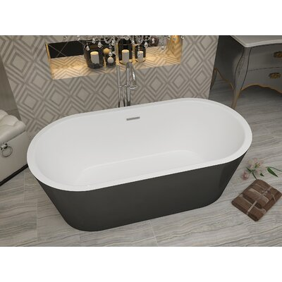"Dualita 63"" x 31.4"" Freestanding Soaking Bathtub FT-AZ011"