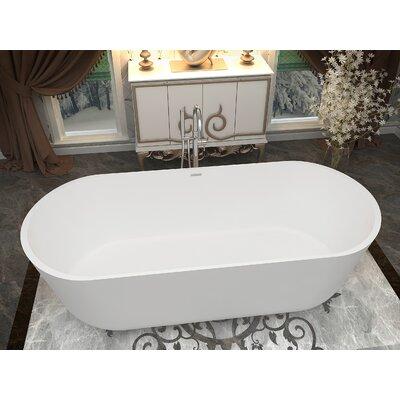 Sabbia 70.8 x 31.5 Freestanding Soaking Bathtub