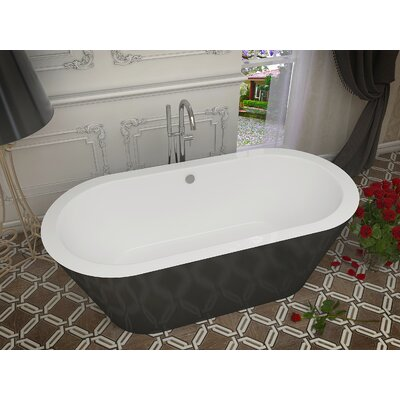 Dualita 70 x 31.25 Freestanding Soaking Bathtub