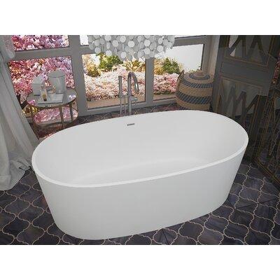 Roccia 61.4 x 31.2 Freestanding Soaking Bathtub