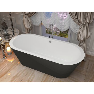Dualita 64.75 x 31.4 Freestanding Soaking Bathtub