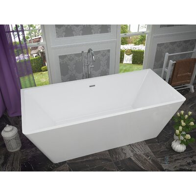 Majanel 67 x 31.4 Freestanding Soaking Bathtub