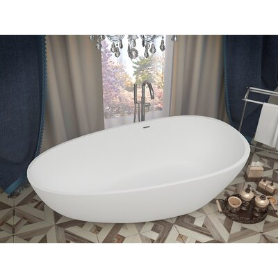 Fiume 67 x 33.5 Freestanding Soaking Bathtub
