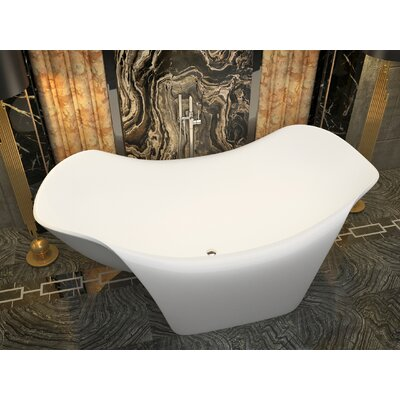 Cielo 78.7 x 55 Freestanding Soaking Bathtub