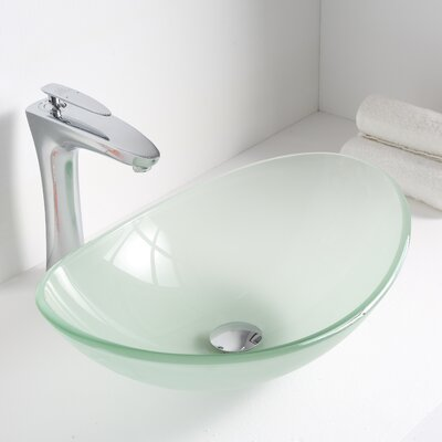 Forza Glass Oval Vessel Bathroom Sink