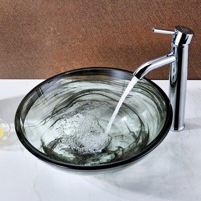 Mezzo Circular Vessel Bathroom Sink