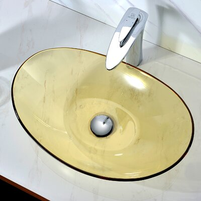Mesto Oval Vessel Bathroom Sink