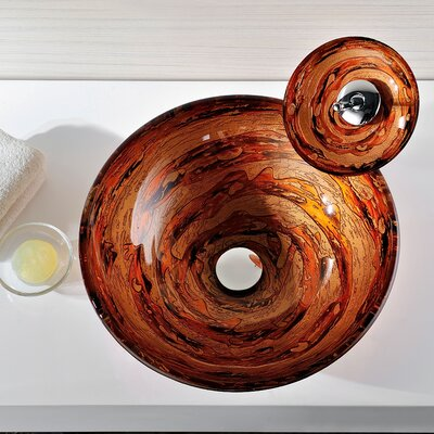 Stanza Glass Circular Vessel Bathroom Sink
