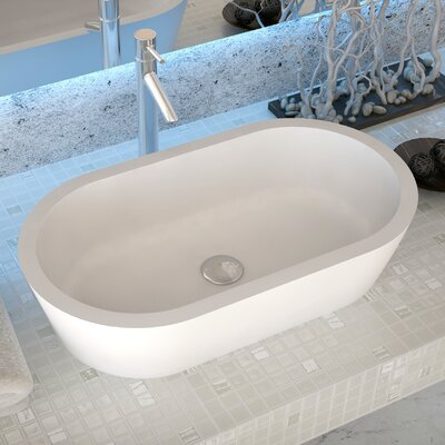 Vaine Stone Oval Vessel Bathroom Sink