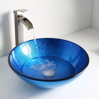 Clavier Circular Vessel Bathroom Sink