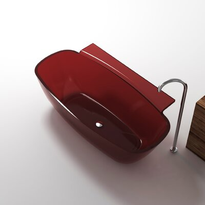 Vida 62 x 32 Freestanding Soaking Bathtub Color: Deep Red