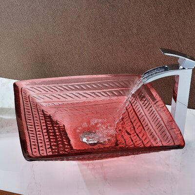 Ritmo Glass Square Vessel Bathroom Sink