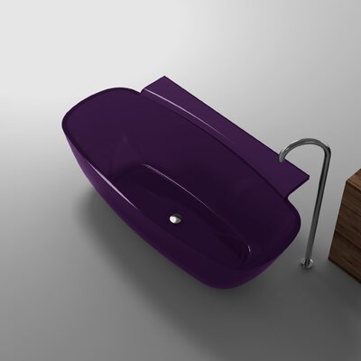 Vida 62 x 32 Freestanding Soaking Bathtub Color: Evening Violet