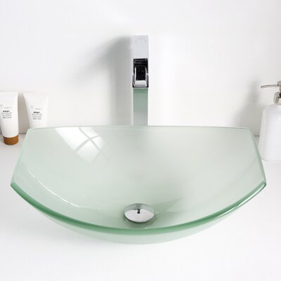 Pendant Glass Specialty Vessel Bathroom Sink