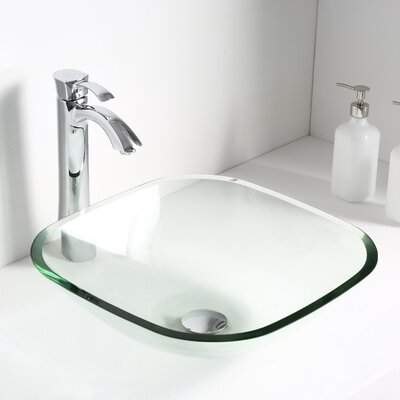 Cadenza Glass Circular Vessel Bathroom Sink