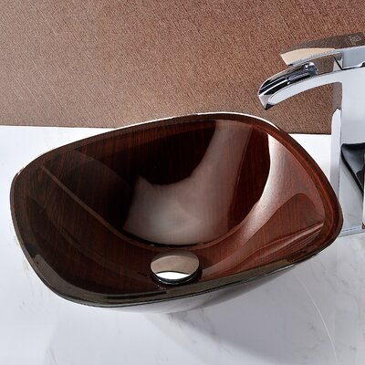 Cansa Deco-Glass Rectangular Vessel Bathroom Sink