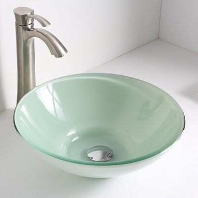 Sonata Circular Vessel Bathroom Sink