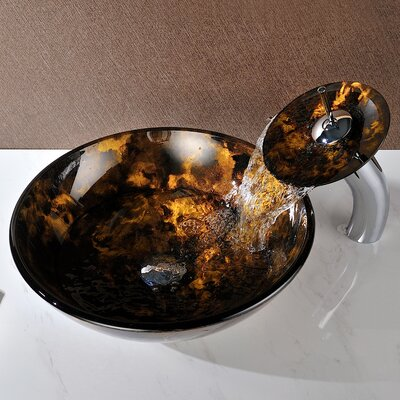 Timbre Circular Vessel Bathroom Sink