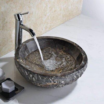 Umbral Stone Circular Vessel Bathroom Sink