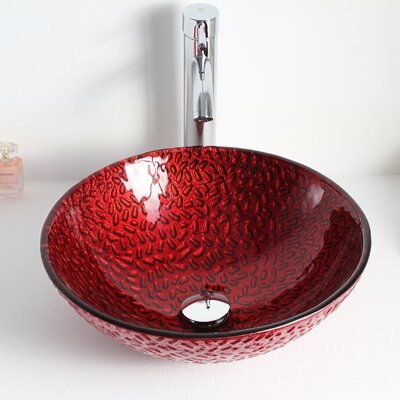 Rhytm Circualr Glass Circular Vessel Bathroom Sink