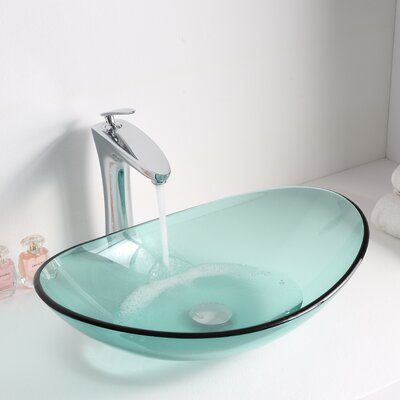 Major Glass Oval Vessel Bathroom Sink