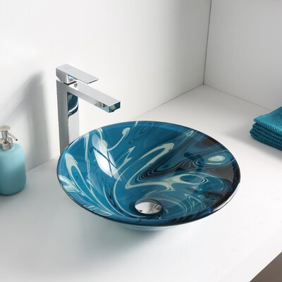 Symphony Glass Circular Vessel Bathroom Sink