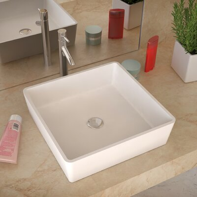 Passage Stone Square Vessel Bathroom Sink