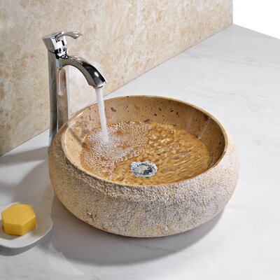 Leopards Circular Vessel Bathroom Sink