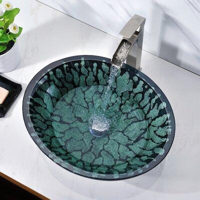 Bravo Glass Circular Vessel Bathroom Sink