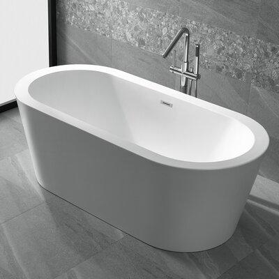 Ares 67 x 31.5 Freestanding Soaking Bathtub