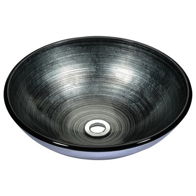 Stellar Series Glass Circular Vessel Bathroom Sink Sink Finish: Precious Storm