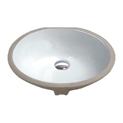 Rhodes Series Vitreous China Circular Undermount Bathroom Sink with Overflow