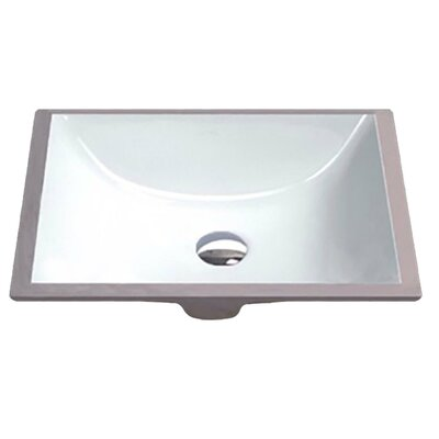 Dahlia Series Rectangular Undermount Bathroom Sink with Overflow