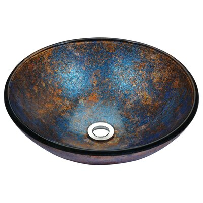 Stellar Series Circular Vessel Bathroom Sink Sink Finish: Sapphire Burst