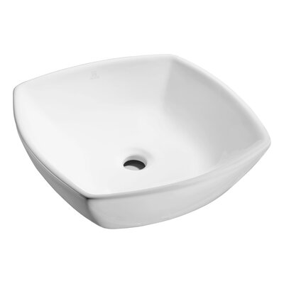 Deux Series Vitreous China Square Vessel Bathroom Sink