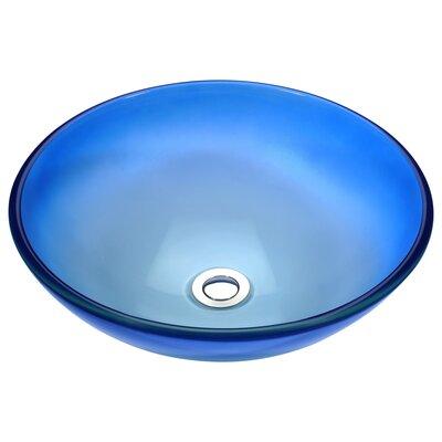 Stellar Series Glass Circular Vessel Bathroom Sink