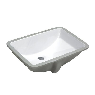 Pegasus Series Rectangular Undermount Bathroom Sink with Overflow