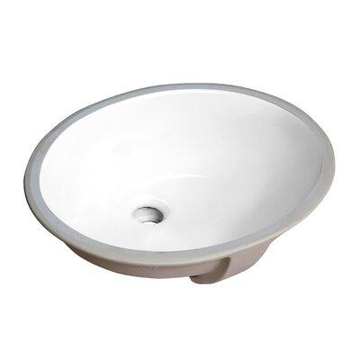 Pegasus Series Circular Undermount Bathroom Sink with Overflow
