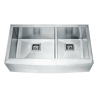 Elysian Series 35.88 x 20.75 Double Farmhouse Kitchen Sink