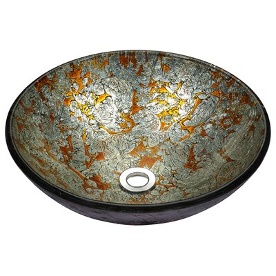 Stellar Series Glass Circular Vessel Bathroom Sink Sink Finish: Arctic Blaze