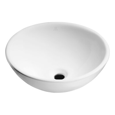 Deux Series Vitreous China Circular Vessel Bathroom Sink