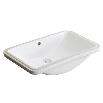 Lanmia Series Vitreous China Rectangular Undermount Bathroom Sink with Overflow