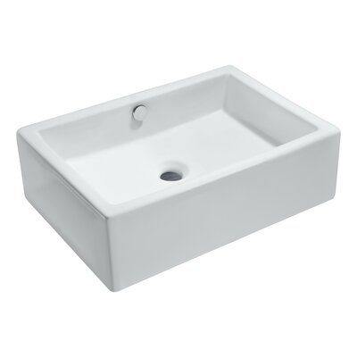 Deux Series Rectangular Vessel Bathroom Sink with Overflow