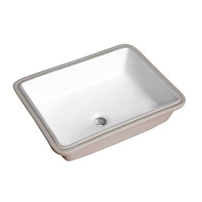 Dahlia Series Rectangular Undermount Bathroom Sink with Overflow